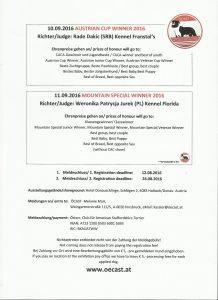 Info Austrian Cup & Mountain Special Winner 2016