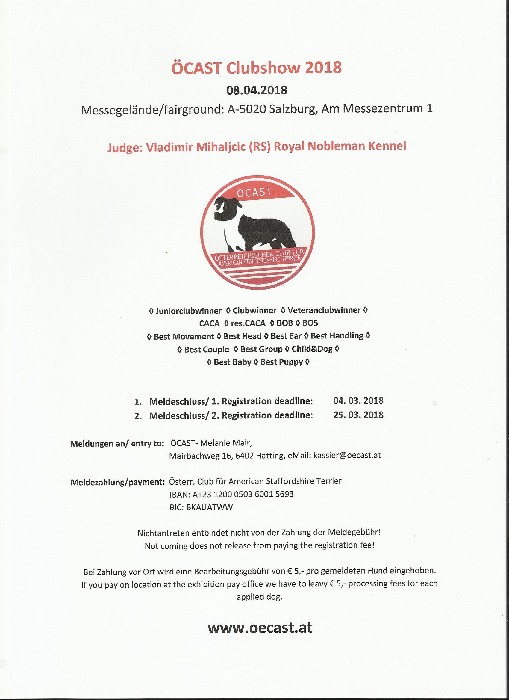 Enkelt parti SALZBURG 2018
